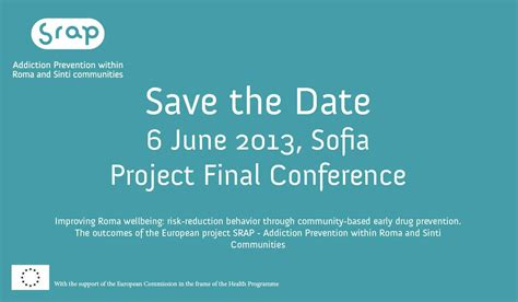 conference save the date template srap conference on 6 june 2013 sofia srap project eu