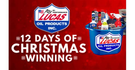 Lucas Oil Sweepstakes - lucas oil 12 days of christmas winning sweepstakes shareyourfreebies