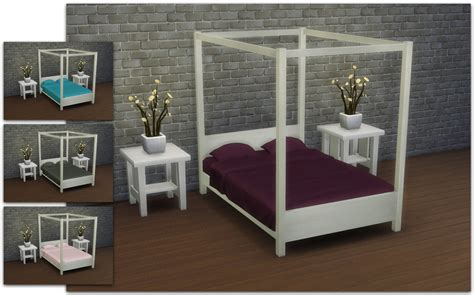 Pictures Of Canopy Beds mod the sims modern four poster double bed