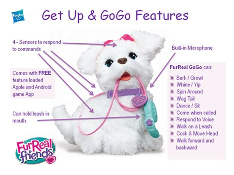 furreal friends walking puppy furreal friends gogo interactive robot puppy features robotic toys