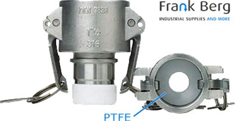 Teflon Lock And Lock camlock couplings groove disconnect coupling