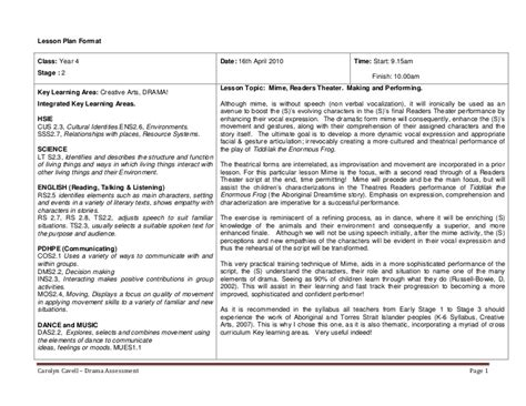 business plan template nsw drama lesson plan