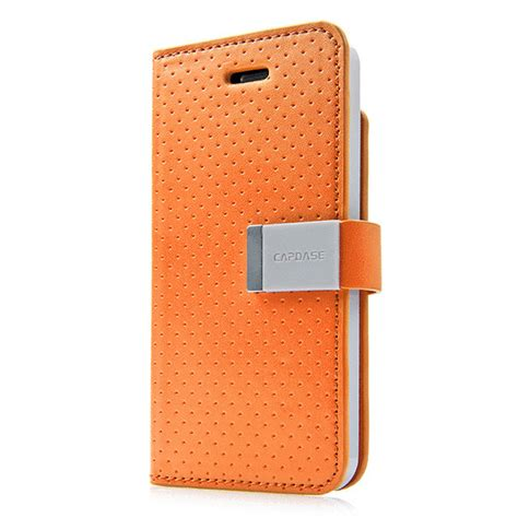 Capdase Folder Sider Polka For Apple Iphone5 iphonese 5s 5 ケース folder sider polka orange grey