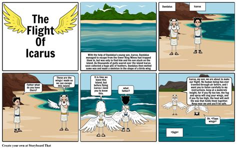the story of the story of icarus storyboard by gabzers