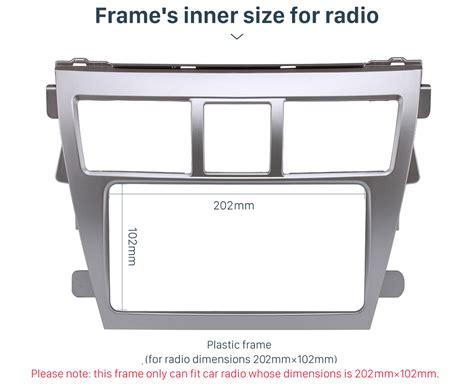 Frame Yaris 2006 2013 Frame Tv Mobil Yaris Lama car radio frame mounting cage dash kit for toyota vios