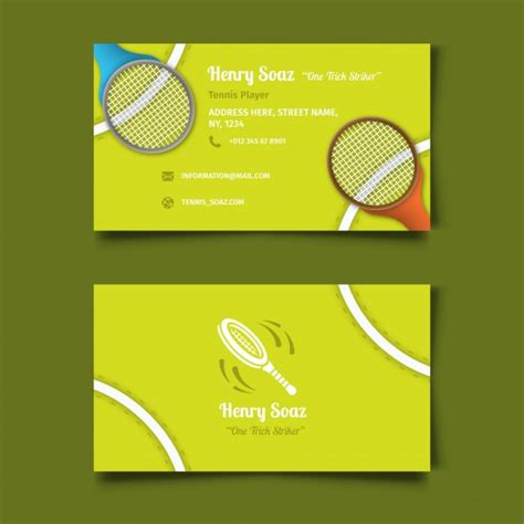 Sports Business Cards Templates Free