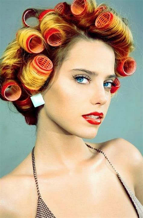 women who curls sissys hair in rollers 334 best curlers images on pinterest hair dos curls