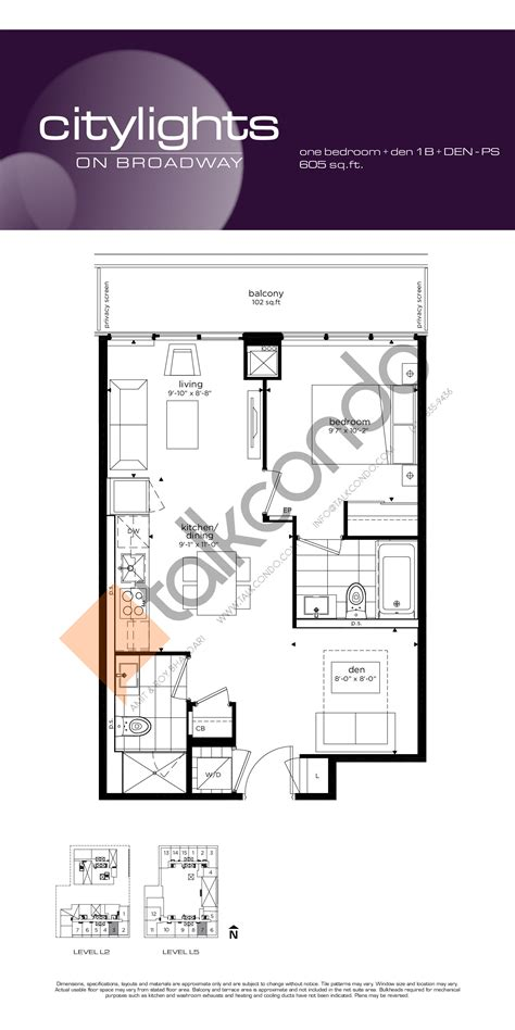Citylights Condo Floor Plan by Citylights On Broadway Condos Talkcondo