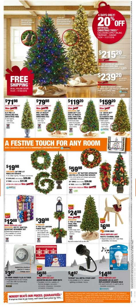 black friday christmas tree sales home depot home depot black friday 2017 ad deals funtober