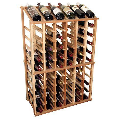 sonoma designer wine rack kit 6 column half height w