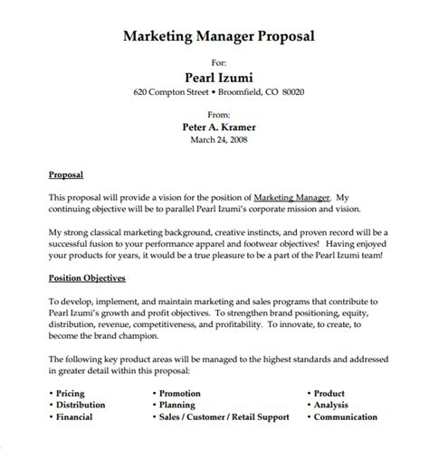12 sle job proposal templates sle templates