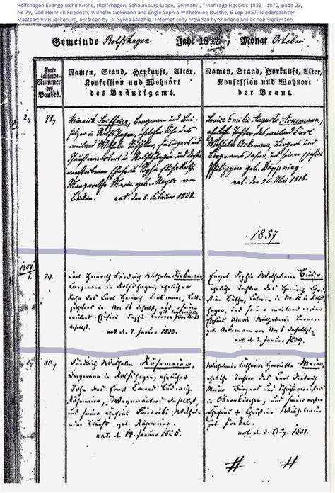 Marriage Records Nebraska Sieckmann Family History