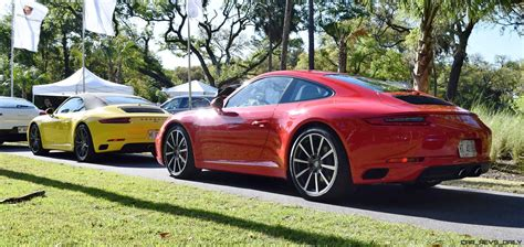guards red porsche 2017 porsche 911 c2s race yellow and guards red first