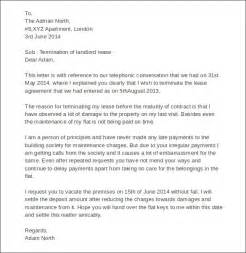 sle landlord lease termination letter 4 documents in