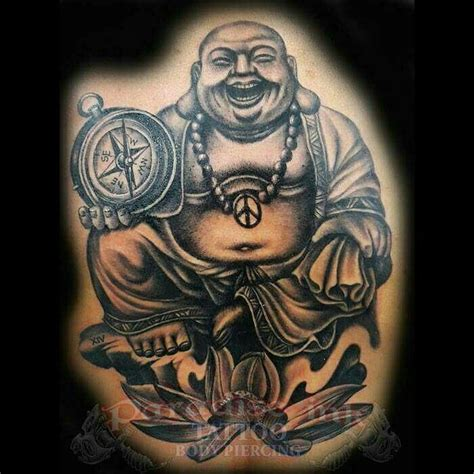 fat buddha tattoo smiling buddha paradise ink bali