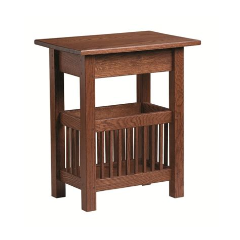 magazine end table with l mission magazine end table country lane furniture