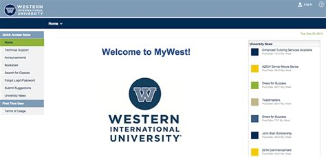 Westminster College Mba Student Portal Login by Western International West Edu My Wiu Login