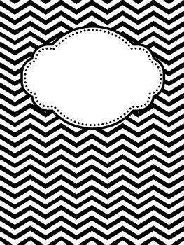 Black And White Binder Cover Templates by Editable Chevron And Polka Dot Binder Covers Binder