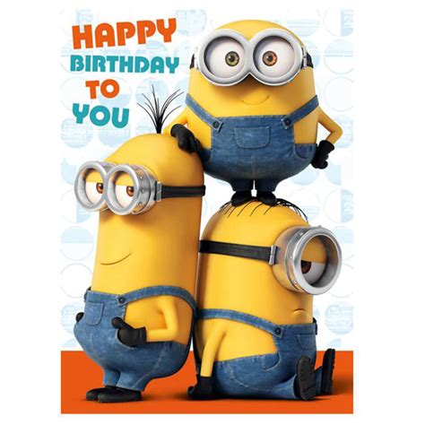 happy birthday minions sound card minion shop