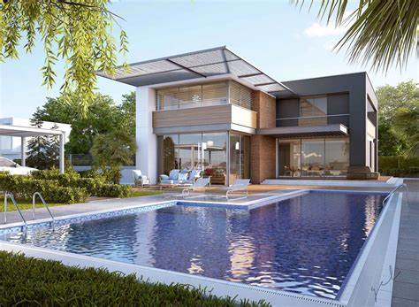 modern pool house modern house pool