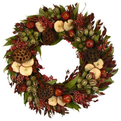 red delicious apple wreath traditional wreaths and garlands by hayneedle