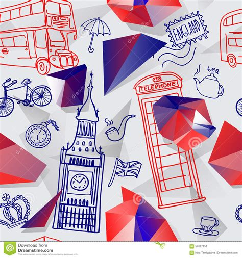 english pattern vector english background stock vector image 57627251