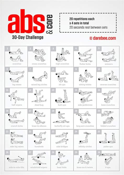 30 day abs challenge chart 25 best ideas about 30 day workouts on 30 day