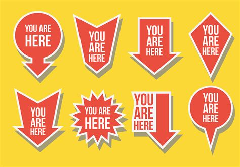 You Are Here free you are here icons vector free vector