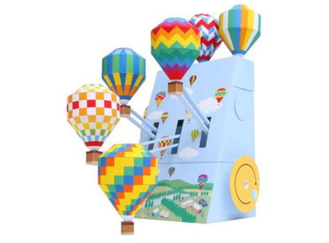 Canon Printable Paper Crafts - canon papercraft air balloon festival automata free
