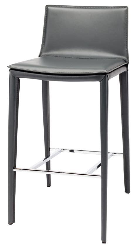 Grey Leather Bar Stool Palma Grey Leather Bar Stool From Nuevo Coleman Furniture