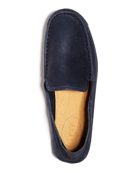 ugg leather slippers for ugg ugg 174 australia hunley leather slippers in blue for
