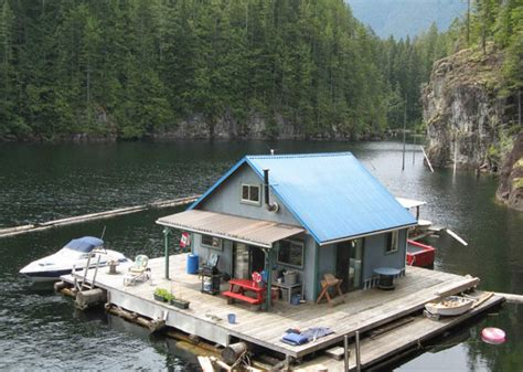 Sustainable Floating Cabin In Beautiful British Columbia Waterfront House Plans In Beautiful Columbia