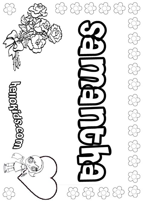 coloring book pages names name coloring pages girly name to color