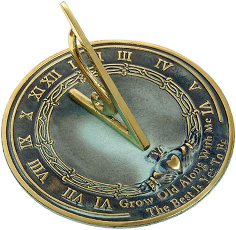 Pedestal Clock Grow Old With Me Sundial