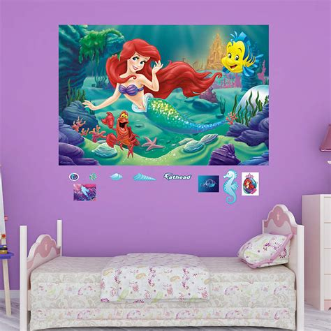 little mermaid bedroom decor the little mermaid mural wall decal shop fathead 174 for
