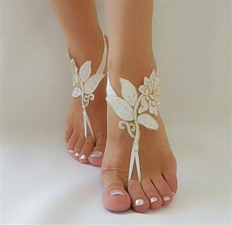 Frame Foto Sandal ivory gold frame wedding barefoot sandals ivory