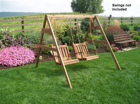 a frame swings cedar a frame stand for swing or swing bed with hangers