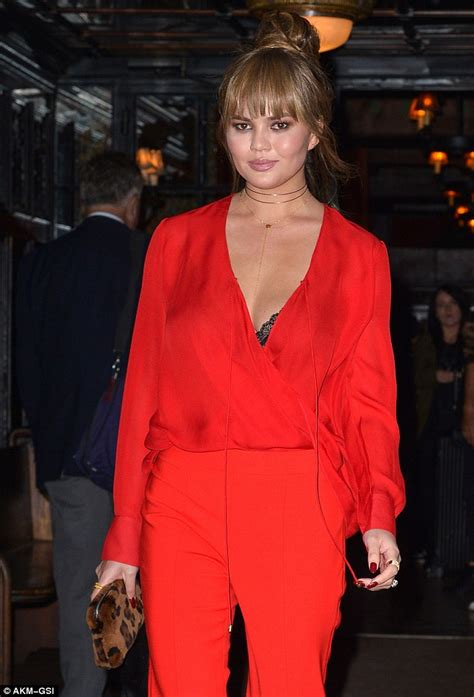 Five Cut Blouse chrissy teigen shares instagram of moments after birth of