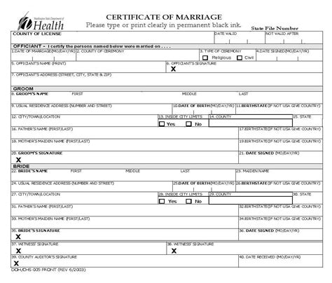 Washington State Marriage Records Marriage Certificate Copies King County Washington Caroldoey