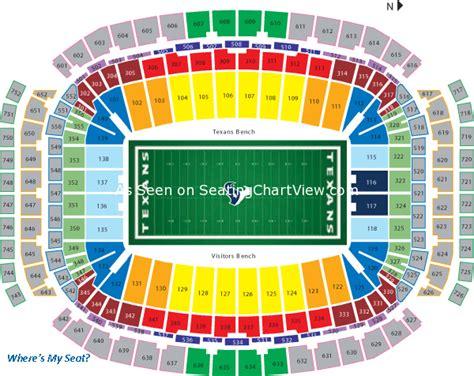 of stadium seating views nrg stadium houston tx seating chart view