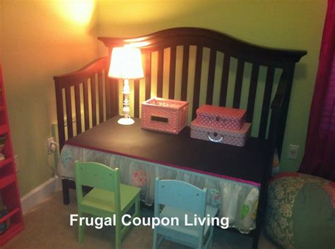Convert Crib To Toddler Bed Diy by Reuse A Crib Into A Child S Desk With This Do It Yourself