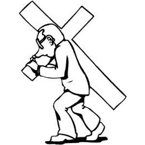 coloring pages of jesus carrying the cross carrying the cross coloring page