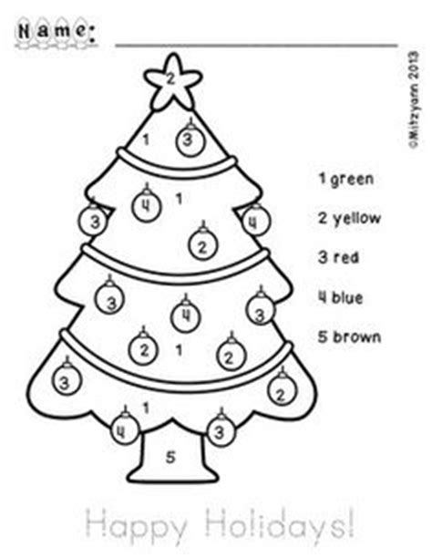 color by numbers christmas tree coloring pages pinterest