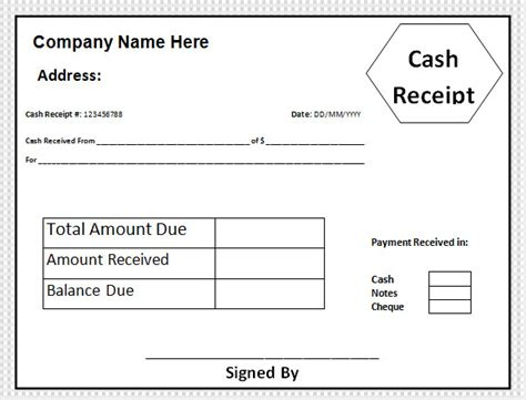 29 Cash Receipt Templates Sle Templates Receipt Of Funds Template
