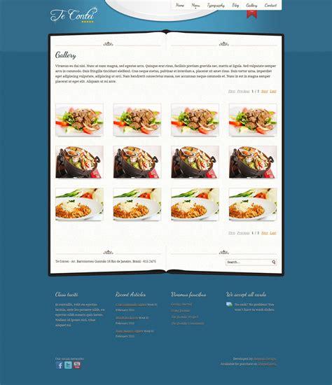 design menu in joomla te contei joomla 1 6 restaurant template by demente