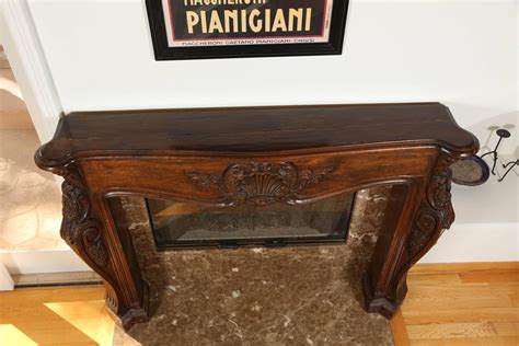 louis xvi carved wooden fireplace mantel at 1stdibs