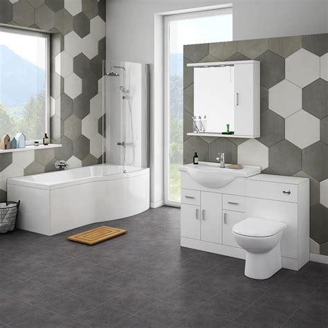 cove bathroom suite   shaped shower bath victorian