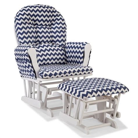 navy glider and ottoman custom glider and ottoman in white and navy 06550 6131