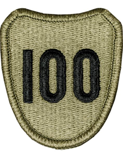 operational camouflage pattern unit patches ocp unit patch 100th infantry division with fastener