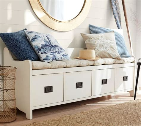 wade bench almond white pottery barn